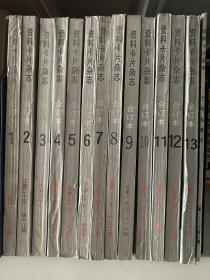 资料卡片杂志合订本 1-13 加十年总索引共14本1984--1996