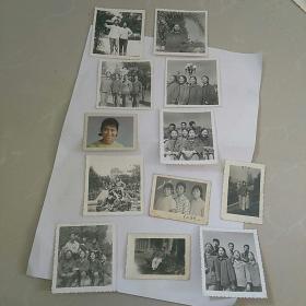 文革照片,12张~〈女青年〉,本溪市~人民公园,站前迎宾馆 等