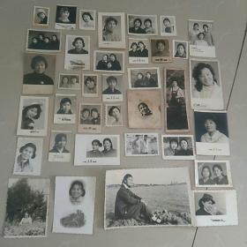 照片,文革女青年,36张
