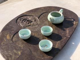 五花石茶盘,天然石头,纹理清晰,图案精美,好使好用