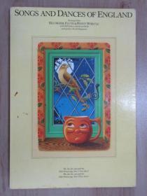 英文书     SONGS AND  DANCES OF ENGLAND  共80页   16开