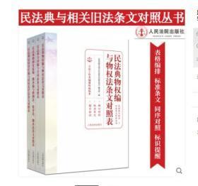 2020新版民法典与相关旧法条文对照丛书全套4册