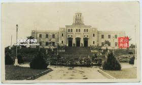 民国1934年广西梧州中山纪念堂老照片,位于上三里18号,梧州市中心的中山公园内。孙中山为了筹备北伐,曾于1921年至1922年先后3次驻节梧州