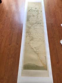 0164古地图1750 黄河南河图 黄河下游 清乾隆十五年前后。纸本大小49.64*229.73厘米。宣纸原色微喷印制