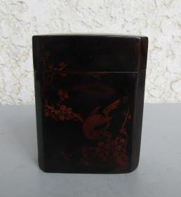 建國初漆器茶葉盒