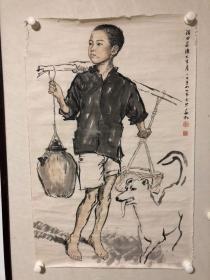 蒋兆和(1904—1986),原泸县小市镇(今划属龙马潭区)人,自幼喜欢绘画。七、八岁时,已能对画谱临摹,对山水、花鸟、人物无所不画。十二岁起为生活所迫,开始走上以画炭精像为生的道路。