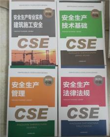 备考2019注册安全工程师考试教材(全套4本)含大纲