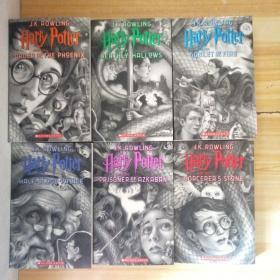 全新正版哈利波特与魔法石 英文原版 20周年纪念版 美国版 Harry Potter and the Sorcerer's Stone  [1-7缺第2册】6本合售平装