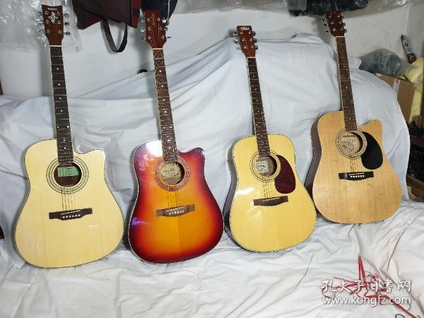 9--95新,吉他,枫木板,1把国产雅马哈,2把韩国产,1把产地不明,400元一把,打包优惠,限天津自提,要看细节图联系我