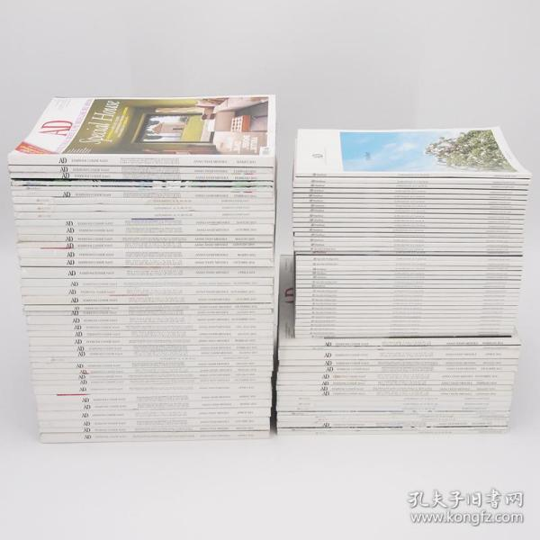 意大利语 AD 家装设计杂志 过期外文杂志 样板房摆场填充书架用