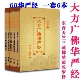大方广佛华严经(60卷)东晋佛驮跋陀罗译 一套6本 注音版彩色封面