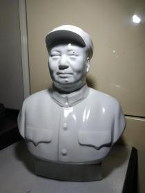 文革红色官窑:唐山一厂毛主席军帽瓷像