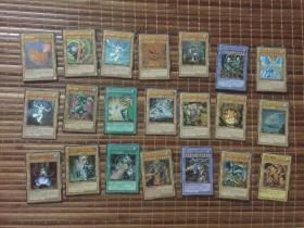 游戏王卡牌卡片20张镜面闪加1幻身共21张合售
