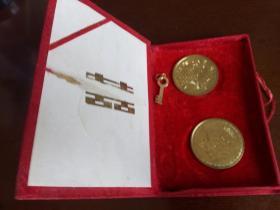 【铜章】19XX年结婚纪念铜章 龙凤纪念章 白头偕老 (两枚)