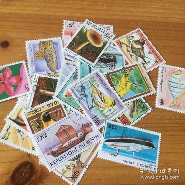 邮票 外国邮票 贝宁 25枚 95~99年 挺好看的