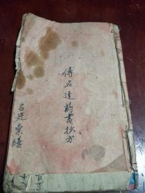 手抄本医书:损伤观鉴,跌打损伤,图多