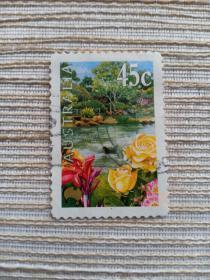 澳大利亚邮票 45C  国际花卉博览会 鲜花 花朵 2000年发行