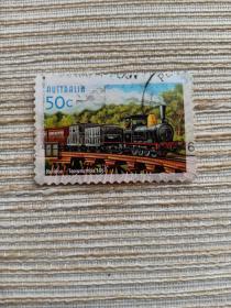 澳大利亚邮票 50C 2004年澳大利亚铁路建成150周年 1867年