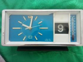 怀旧老闹钟 钻石牌闹钟 带日历和温度计