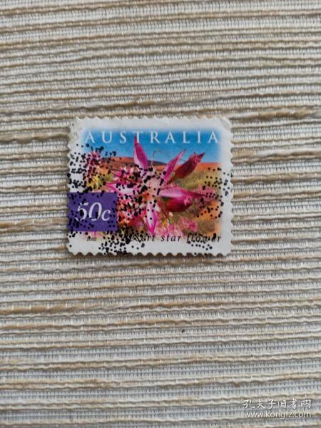 澳大利亚邮票  50C 沙漠系列 沙漠之花 鲜花 花朵 2002年发行