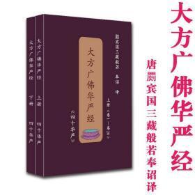 佛教经典 华严经普贤行愿品40卷全2册四十华严简体横排汉语拼音本