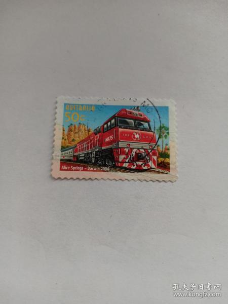 澳大利亚邮票 50C  2004年澳大利亚铁路建成150周年 2004年