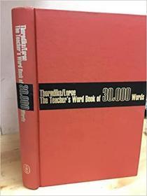 The Teacher's World Book of 30,000 Words