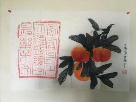 书画砖拓片家富昌,田大得谷,后世长乐未央