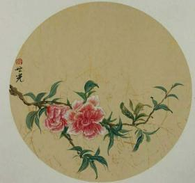 青年新锐油画家疫情其创作国画小品《花系列》1、33x33cm 作品成交记录雅昌拍卖可查