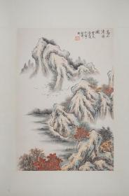 徐志文 (款)高山清音 纸本镜心(保真)