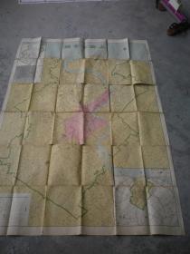 民国地图《上海市全图》大东书局印  152x105公分