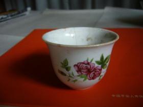 五六十年代贴花瓷酒杯