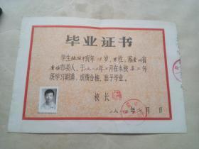 80年代,毕业证书(1983年7月)
