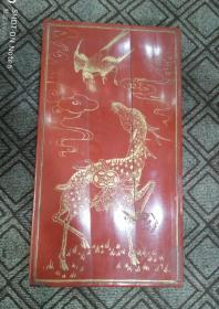民國大家族婚帖漆器盒,描金,尺寸超大,內附三份完整婚書。