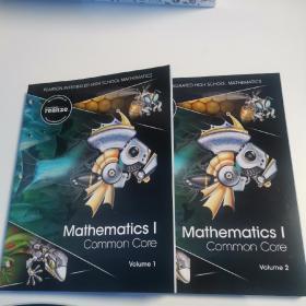 Pearson Mathematics 1 common core Volume1-2Pearson Integrated High School Mathematics   全新两册 正版数学教材带塑封