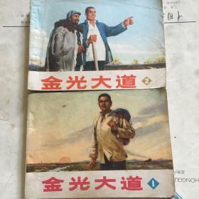 金光大道连环画1,2