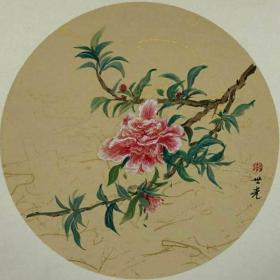 青年新锐油画家疫情其创作国画小品《花系列》3、33x33cm 作品成交记录雅昌拍卖可查