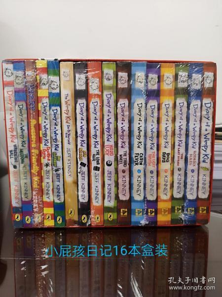 Diary of a Wimpy Kid 小屁孩日记全套16本,英文版,盒装,全新包邮