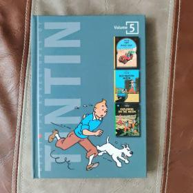 THE ADVENTURES OF TINTIN VOLUME 5:Land of Black Gold / Destination Moon / Explorers on the Moon (3 Complete Adventures in 1 Volume, Vol. 5)
