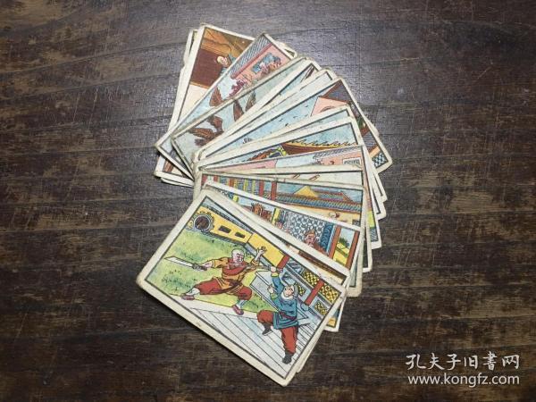 民国伟丰小画片, 烟牌、小画片、烟卡《济公故事》一组16张 ,香烟牌子、小画、烟标、画片