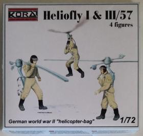 捷克Kora Models绝版二战德国Heliofly I & III/57单兵背负式直升机四个人形各种姿态1/72仿真比例拼装模型树脂金属蚀刻片套件