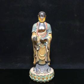 琉璃佛像尺寸:直径约:86mm 高约22cm 重:1229g