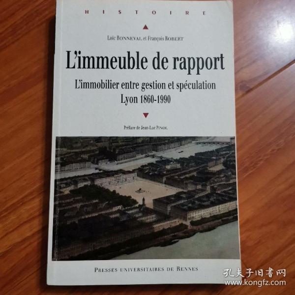 l'immeuble de rapport --l'immobilier entre gestion et speculation lyon 1860-1990