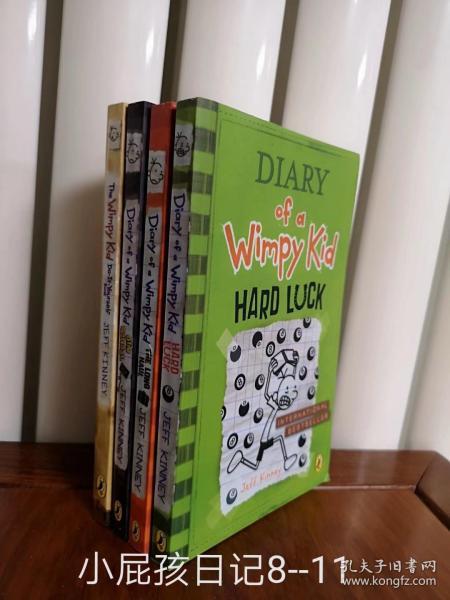 Diary of a Wimpy Kid 小屁孩日记8.9.10.11四本,英文版,全新包邮