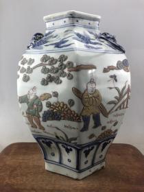 粉彩浮雕人物大瓷罐B3901