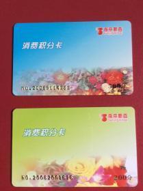 卡收藏——《南京新百 消费积分卡 黑磁条卡》(整套2枚)