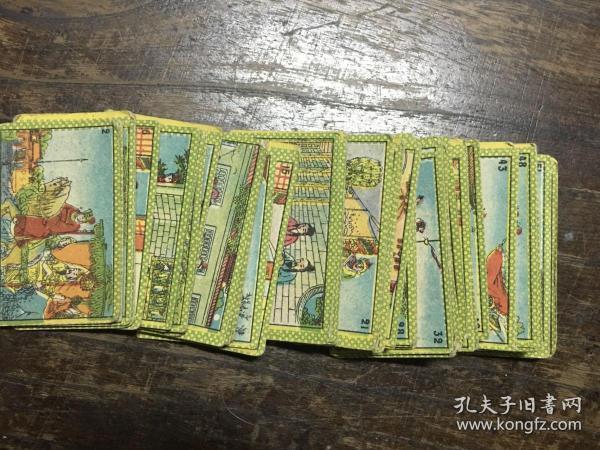 民国小画片, 烟牌、小画片、烟卡《薛刚出世》一组48张 ,香烟牌子、小画、烟标、画片