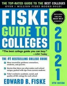 2021年费斯克大学指南 英文原版书 Fiske Guide to Colleges 2021