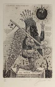 乌克兰奥列格•戴尼森科(Oleg Denisenko)藏书票版画原作3精品收藏