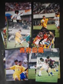 重回燃情时刻,2000年前后四川全兴队等足球比赛老照片15张合售,很多足球明星,具有时代特色的酒类广告球衣,拍摄技术很强的原版照,很难得。